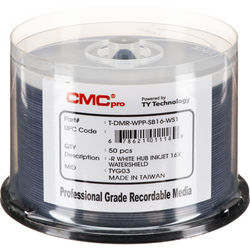 CMC Pro 4.7GB DVD-R Print Plus 16x Discs (50-Pack)