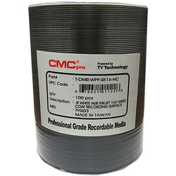 CMC Pro DVD-R 4.7GB 16x HardCoat Inkjet Printable Discs (100-Pack)
