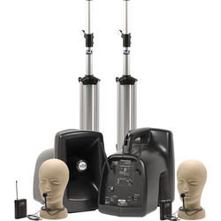 Anchor Audio MegaVox Deluxe AIR PA Package Dual with Two CM-60 Collar Microphones