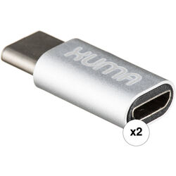 Xuma USB Type-C Male to Micro-USB Female Adapters (2-Pack)
