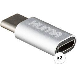 Xuma USB Type-C Male to Micro-USB Female Adapters (2-Pack)