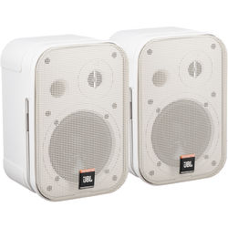 """JBL Control 1 Pro - 5"""" Two-Way Professional Compact Loudspeaker (Pair, White)"""