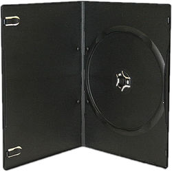 Inland Products 7mm Slim 1-Disc Capacity DVD Case (20-Pack, Black)