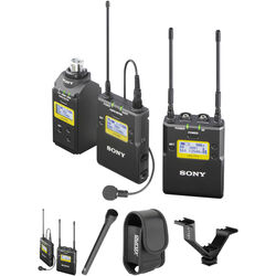 Sony UWP-D Integrated Digital Dual Combo Wireless ENG Basic Kit (UHF Channels 14/25: 470 to 542 MHz)
