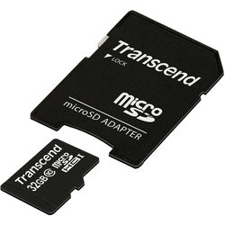 Transcend 32GB microSDHC Memory Card Class 10 with microSD Adapter