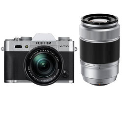 Fujifilm Fujifilm X-T10 with 16-50mm and 50-230mm Lenses Kit (Silver)