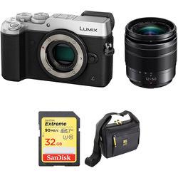 Panasonic Lumix DMC-GX8 Mirrorless Micro Four Thirds Digital Camera with 12-60mm Lens Kit (Silver)