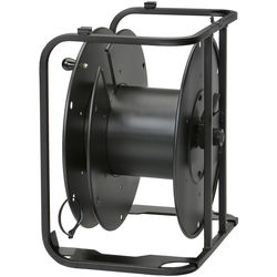 Hannay Reels AVD-2 Portable Cable Storage Reel With Slotted Divider Disc (Black)