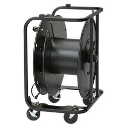 """Hannay Reels AVD-2 Audio/Video Reel with Divider and 3"""" Casters (Black)"""
