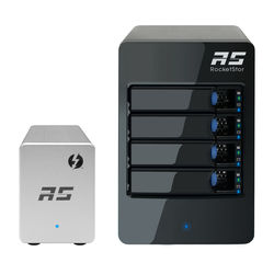 HighPoint RocketStor 6324LS 4-Bay JBOD Solution with Thunderbolt 2 Adapter