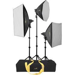 Impact FF-S4 Three Light Daylight Softbox Light Kit
