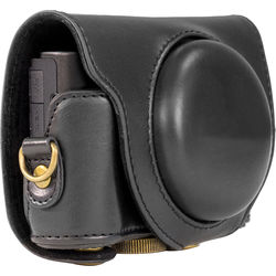 MegaGear Ever-Ready Protective Leather Camera Case for Sony Cyber-shot DSC-HX90V and DSC-HX80B (Black)
