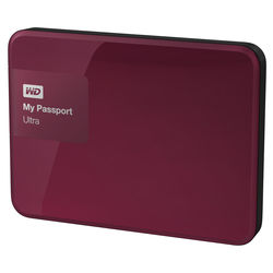 WD 4TB My Passport Ultra USB 3.0 Secure Portable Hard Drive (Berry)