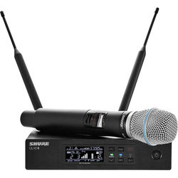 Shure QLXD24/B87A Handheld Wireless Microphone System (H50: 534 to 598 MHz)
