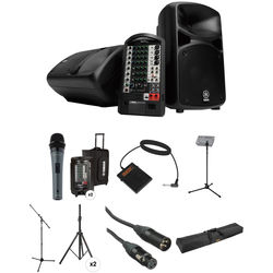 Yamaha STAGEPAS 600i Kit with Mic, Footswitch, Stands, Cases, and Cables