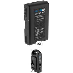 Watson Pro Two 14.8V 97Wh Batteries with LEDs & Dual Position Charger Kit (V-Mount)