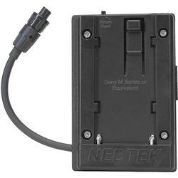 Nebtek Pass-Through DV Battery Adapter with Sony M Faceplate for AJA Mini Converter