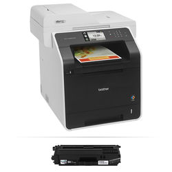 Brother MFC-L8850CDW Wireless Color All-in-One Laser Printer with High Yield Black Toner Kit