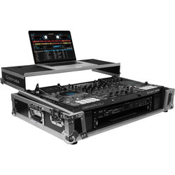 "Odyssey Innovative Designs Denon MCX8000 DJ Controller Flight Zone Glide Style Case with Lower 19"" 2U Rack Space (Silver/Black)"