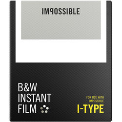 Impossible B&W Instant Film for I-Type (White Frame, 8 Exposures)