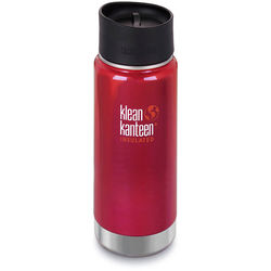 Klean Kanteen Vacuum Insulated Wide 16 oz Water Bottle with Cafe Cap (Roasted Pepper)