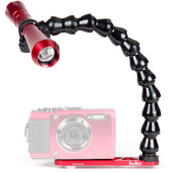Ikelite Tough Tray for Waterproof Cameras with Gamma II Dive Light and Flex Arm