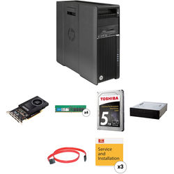 HP Z640 Series Turnkey Workstation with 32GB RAM, 5TB HDD, Quadro M2000, and Blu-ray Rewriter