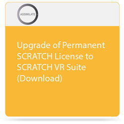 Assimilate Upgrade of Permanent SCRATCH License to SCRATCH VR Suite (Download)