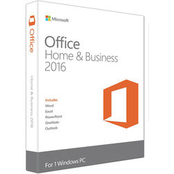 Microsoft Office Home & Business 2016 for Windows (1-User License / Product Key Code / Boxed)