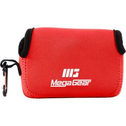 MegaGear Ultra-light Neoprene Camera Case with Carabiner for Sony Cyber-shot DSC-HX90V and DSC-HX80B Cameras (Red)