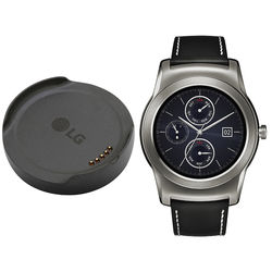 LG Watch Urbane with Additional Charging Cradle Kit (Silver with Black Strap)
