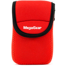 MegaGear Ultra-light Neoprene Camera Case with Carabiner for Panasonic ZS60 Camera (Red)