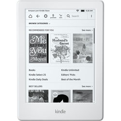 """Kindle 6"""" eReader (Special Offers & Advertisements, White, 2016 Version)"""