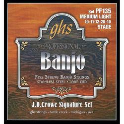 GHS PF135 J.D. Crowe Signature Stage Stainless Steel Banjo Strings (5-String Set, Loop End, 10 - 20)