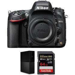 Nikon D610 DSLR Camera Body with External Hard Drive Kit