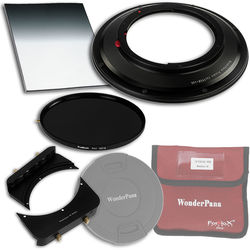 """FotodioX WonderPana FreeArc Core Unit Kit for Canon TS-E 17mm Lens with 145mm Solid Neutral Density 1.2 and 6.6 x 8.5"""" Hard-Edge Graduated Neutral Density 0.6 Filters"""