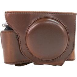 MegaGear Ever-Ready Protective Leather Camera Case for Fujifilm X70 Digital Camera (Dark Brown)