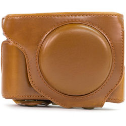 MegaGear Ever-Ready Protective Leather Camera Case for Fujifilm X70 Digital Camera (Light Brown)