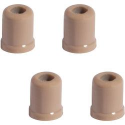Shure Flat Protective Cap for Countryman Earset & Micro-Lav Mic (4-Pack, Light Tan)