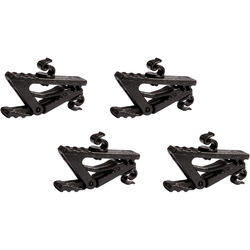 Shure 2mm Cable Clothing Clip for Countryman Microphones (4-Pack, Black)