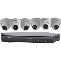 FLIR DN4083E64 8-Channel 4MP NVR with 3TB HDD and 6 4MP Outdoor Turret Cameras