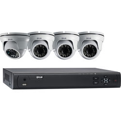 FLIR M3104E1A4 4-Channel 1080p DVR with 1TB HDD and 4 720p Outdoor Turret Cameras