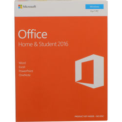 Microsoft Office Home & Student 2016 for Windows (1-User License / Product Key Code / Boxed)