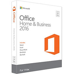 Microsoft Office Home & Business 2016 for Mac (1-User License / Product Key Code / Boxed)