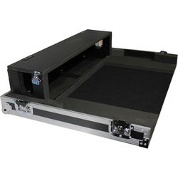 ProX Heavy-Duty Flight Case with Doghouse and Wheels for Yamaha TF5 Studio Mixer Console (Silver on Black)