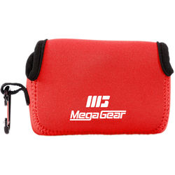 MegaGear Ultra-light Neoprene Camera Case with Carabiner for Canon SX720 HS, Canon PowerShot SX610 HS, and SX600 HS Cameras (Red)