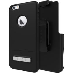 Seidio SURFACE Case with Kickstand and Holster for iPhone 6 Plus/6s Plus (Black/Black)