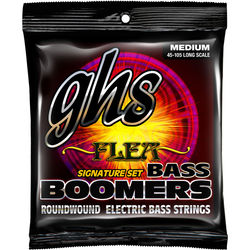GHS M3045F Flea Signature Bass Boomers Roundwound Electric Bass Guitar Strings (4-String Set, Long Scale, 45 - 105)