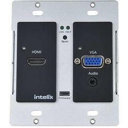 Intelix HDMI/VGA Auto-Switching Wallplate with HDBaseT Port (Black)