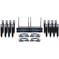 VocoPro Hybrid-Acapella-16 Sixteen-Channel Hybrid Wireless System with Handheld Microphones